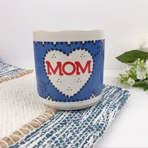 Vintage Mom Cross-Stitch Heart Coffee Mug